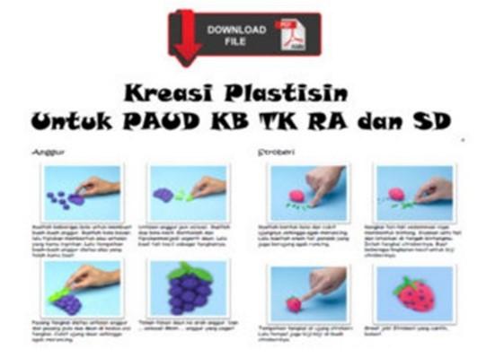 Download Kreasi Plastisin untuk PAUD,KB TK RA dan SD terbaru