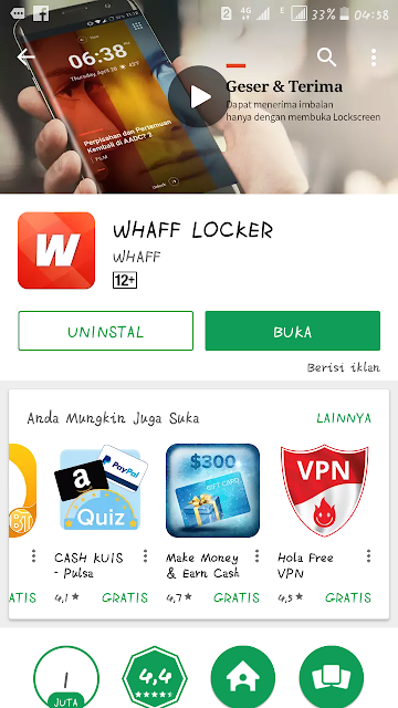 Aplikasi Whaff Android Penghasil Uang Dollar Otomatis