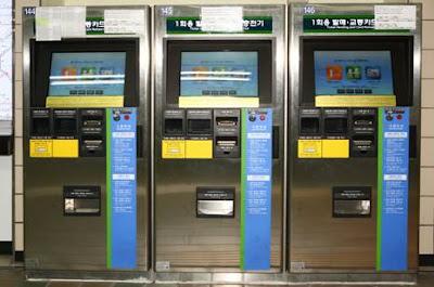 Tempat Pemesanan Tiket Subway di Korea Selatan