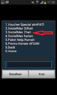Paket Internet Social Max SimPATI Mingguan, Murah dan Gratis BBM
