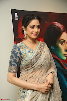 Sri Devi in designer saree stunning beauty at the launch of MOM movie Trailer~  Exclusive 150.JPG