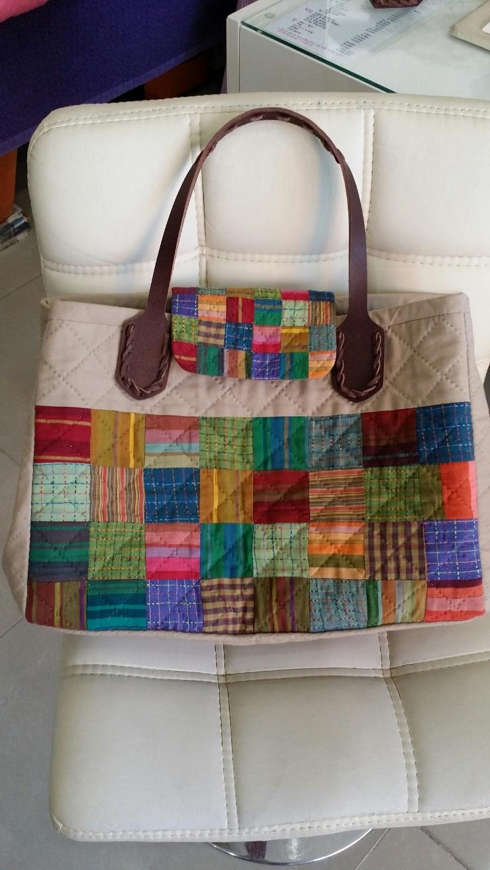 Tutorial: Patchwork Shopping Bag. Сумка пэчворк, инструкция по шитью