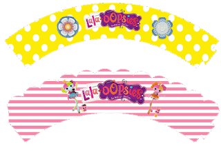 Lalaloopsy Free Printable Cupcake Wrappers