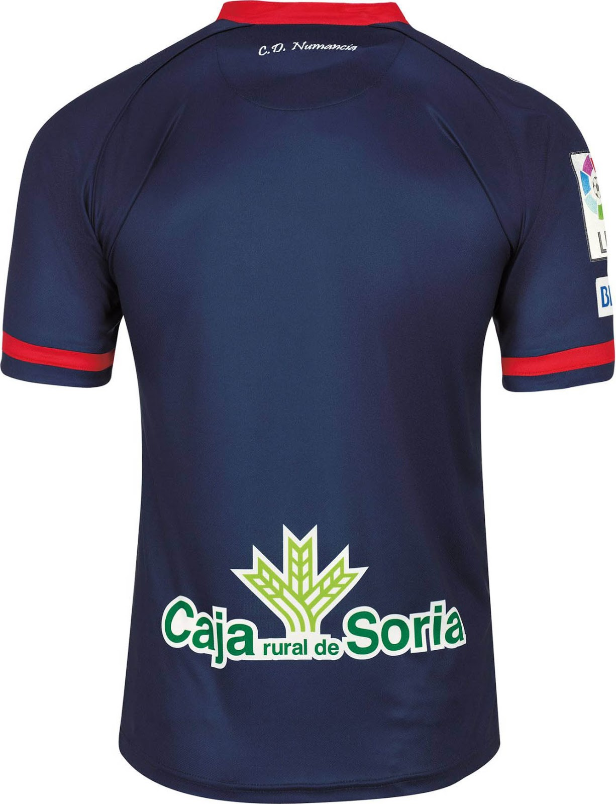 fe5c9706c The new Numancia 2015-16 Third Kit combines the main color navy with red  applications, based on the same template as the Numancia Home Kit.