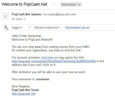 Email daftar Popcash