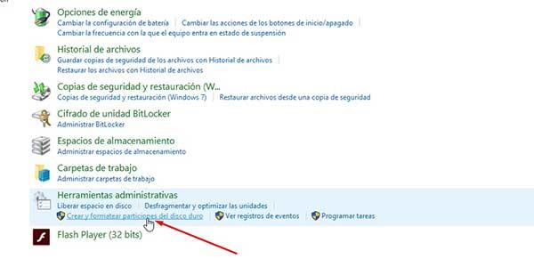 Crear una particion del disco duro nueva en Windows