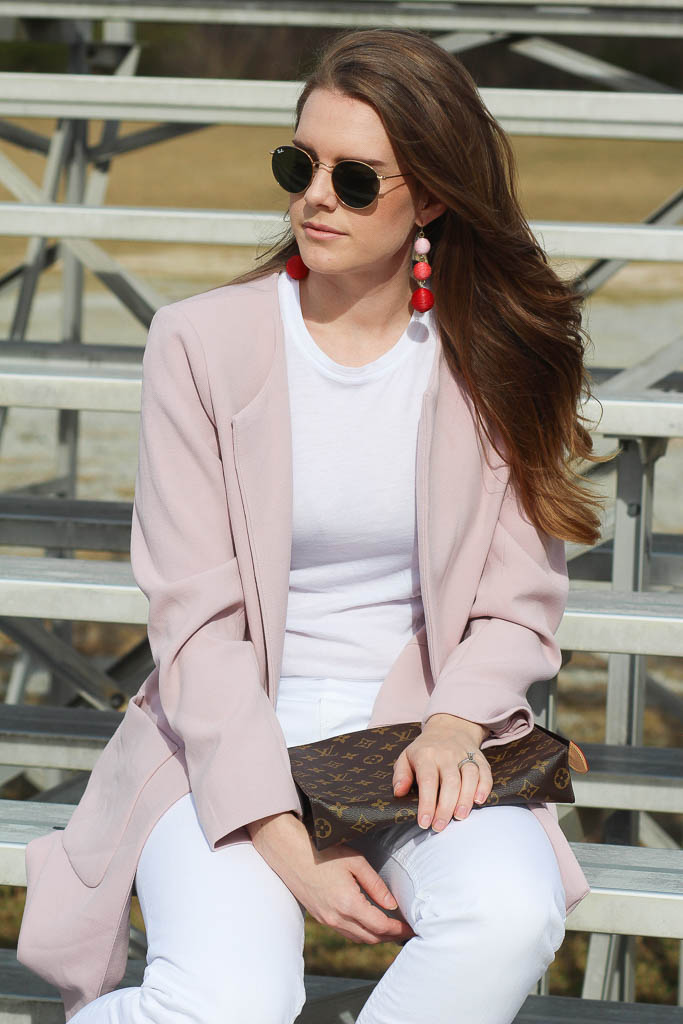 Blush Color- Blush Coat - Blush Earrings