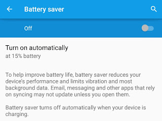Enable Battery Saver Mode