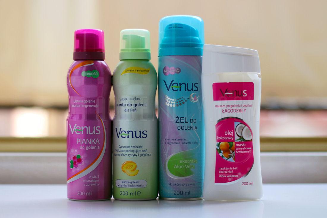 Pielęgnacja :: Gładko z Venus <br>– pianki i żele do golenia