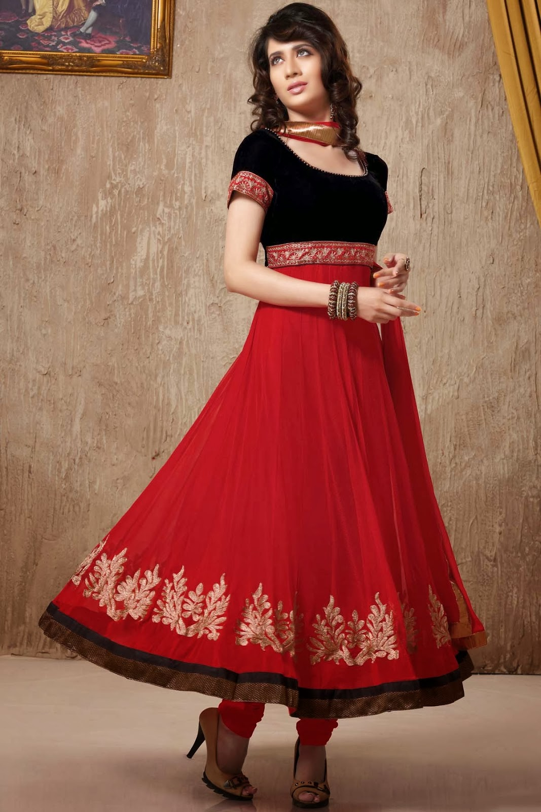 Best Collection Saree and Salwar for Valentines Day 2014 ...