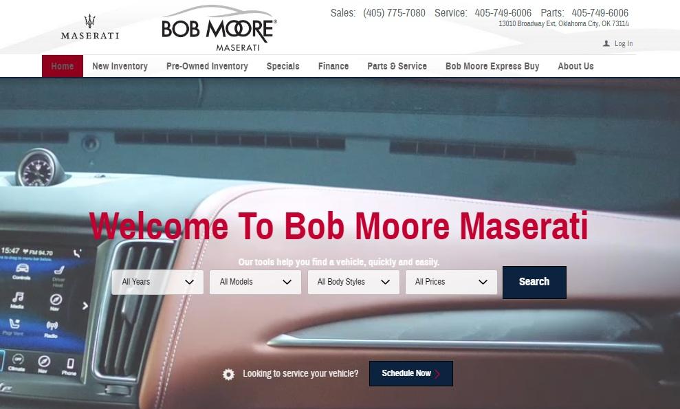 Bob Moore Maserati, Sells & Services Maserati Dealership in Oklahoma City OK