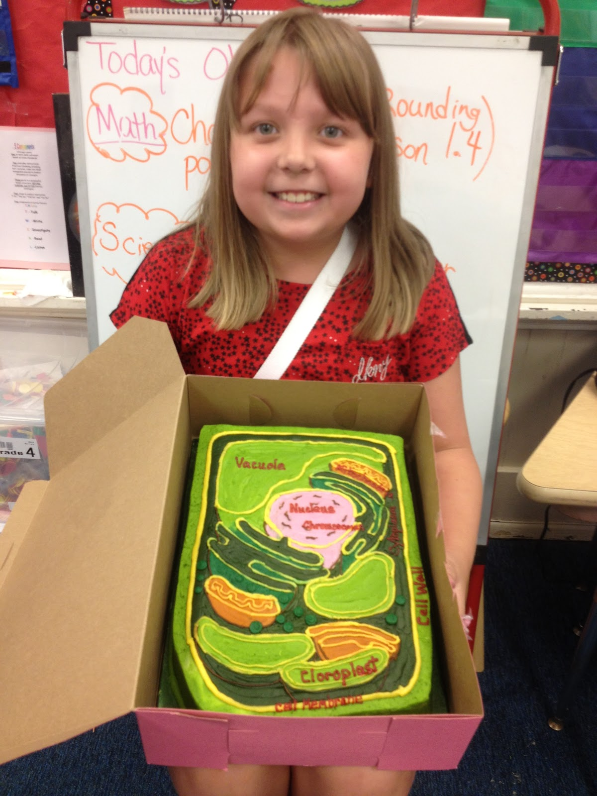 Rockin Into Fourth Grade Editable Plant Cell