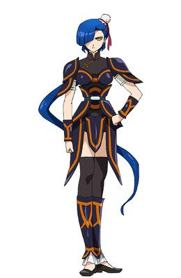 Megumi Han como Ren Sin, soldado del Imperio Rekka