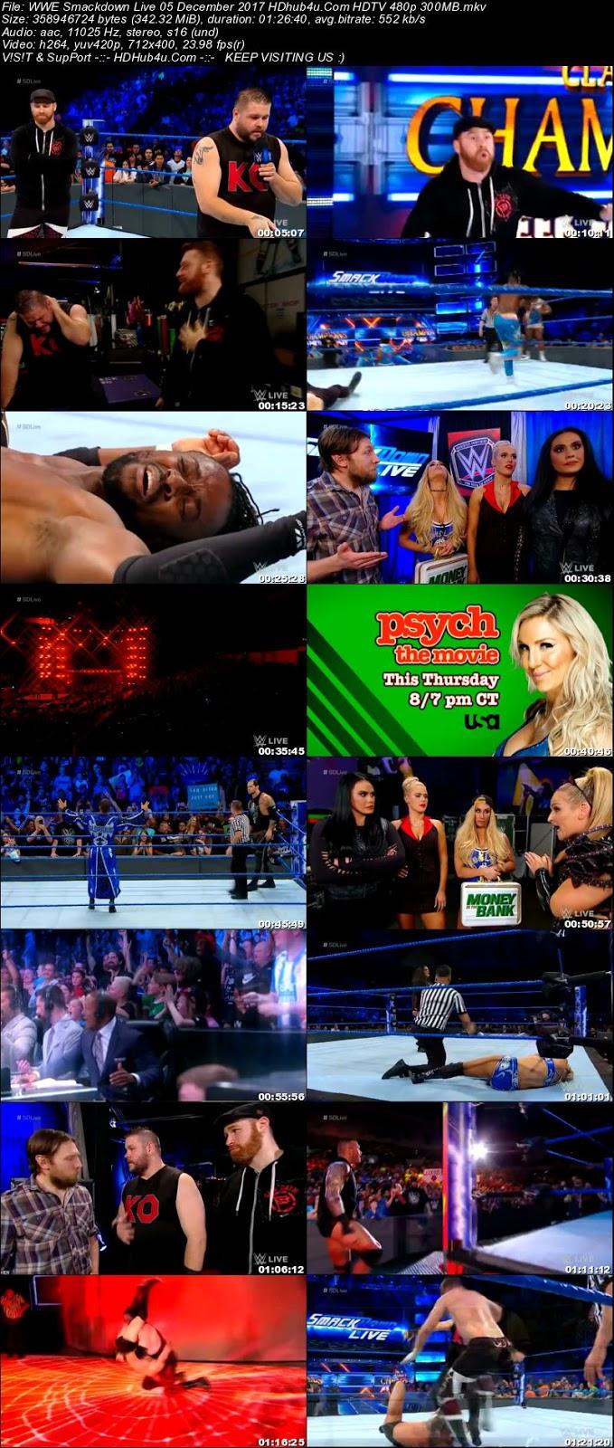 WWE Smackdown Live 05 December 2017 480p HDTV 300MB Download