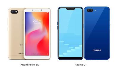 Xiaomi Redmi 6A vs Realme C1