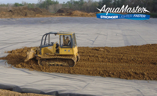 AquaMaster geosynthetic geomembrane wastewater pond liner