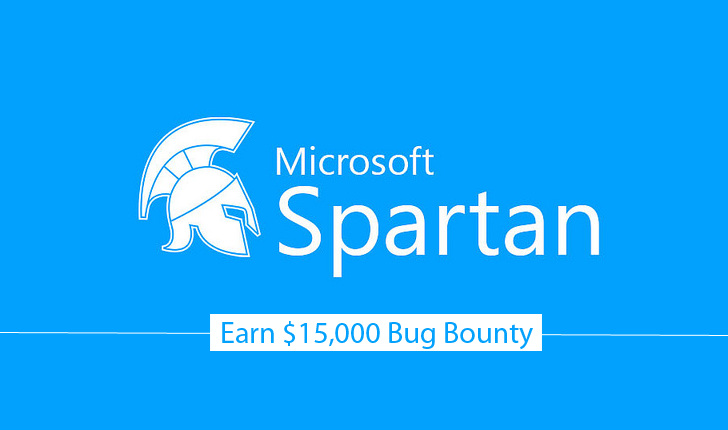 Earn up to $15,000 for Hacking Microsoft Spartan Browser