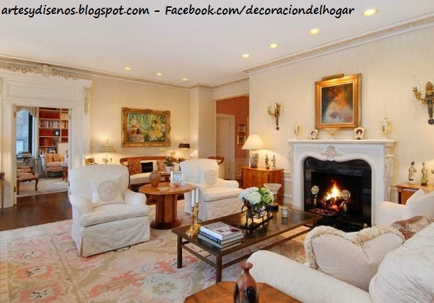 Decoracion Salon Con Chimenea - Como-decorar-un-salon-con-chimenea