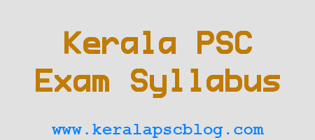 Kerala PSC Work Superintendent Exam Syllabus