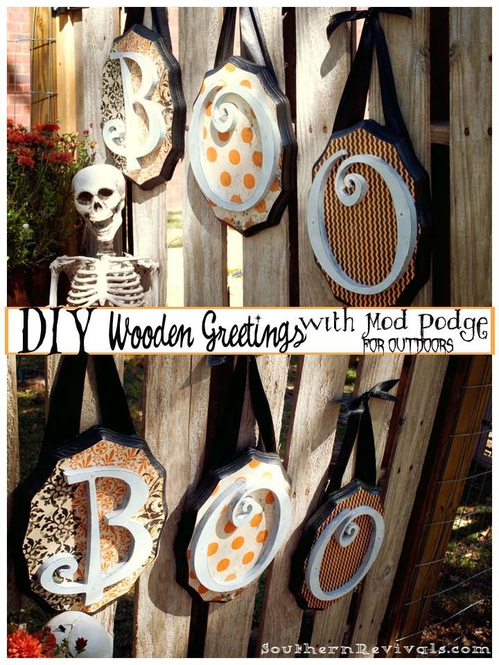 Diy Wooden Halloween Greetings Southern Revivals