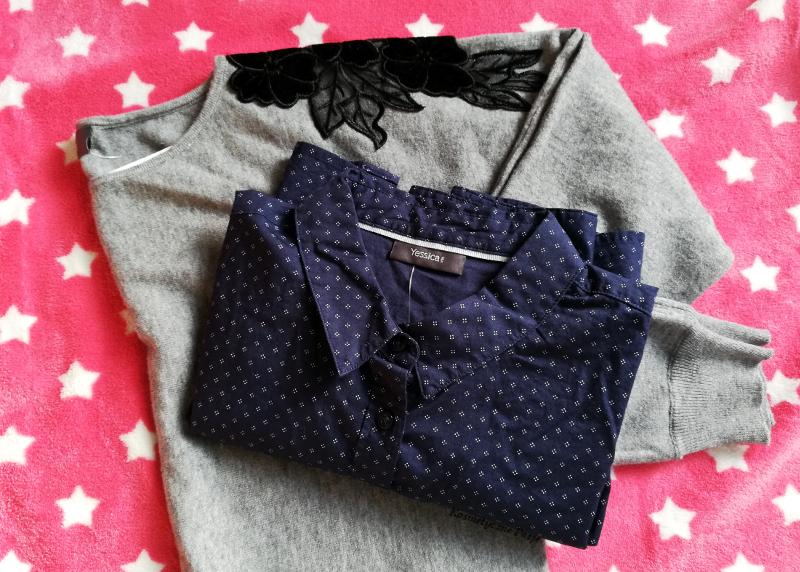 c&a sweter z haftem