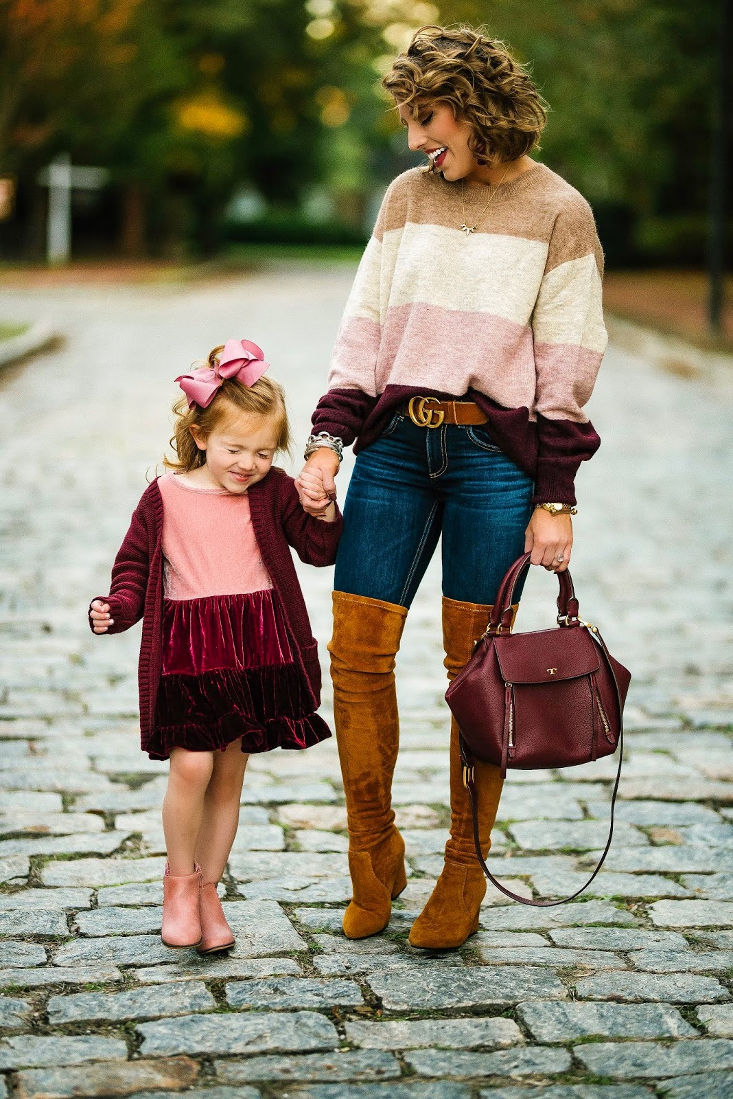 Pink & Burgundy Color Block Looks - Something Delightful Blog