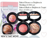 MINI'S THAT MOVE = bronze n brighten (medium), blush n brighten (tropic hues)