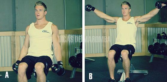 exercício elevação lateral