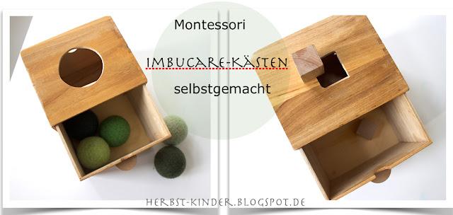 Montessori Imbucare Kasten selbstgemacht DIY