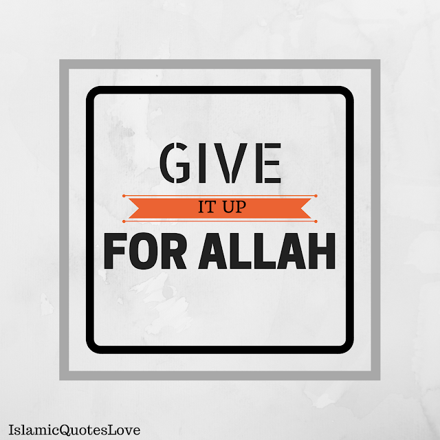 Give it up for the sake of Allah swt, and you'll be rewarded inshaAllah. Think about it, can't you just give that little bad habit up for Allah swt? Are you making the issue bigger than it is?  I don't want to give example, because the bad habits are all individual.. You know which issue you have to stop, or give up.. Do it today, do it for Allah swt. For He who has given you everything! Do it, so you get ajr, because ajr is the only thing you're taking with you after death. Soo, lets change today. Lets give up that bad habit, for Allah swt, and see how easy He makes it for us.. Are you with me?