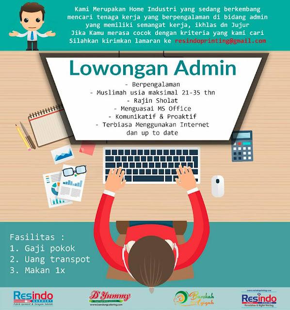Lowongan Kerja Admin Bandung