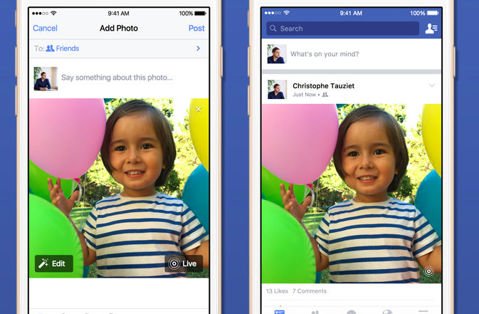 蘋果用戶照片動起來!Facebook宣布支援Live Photos