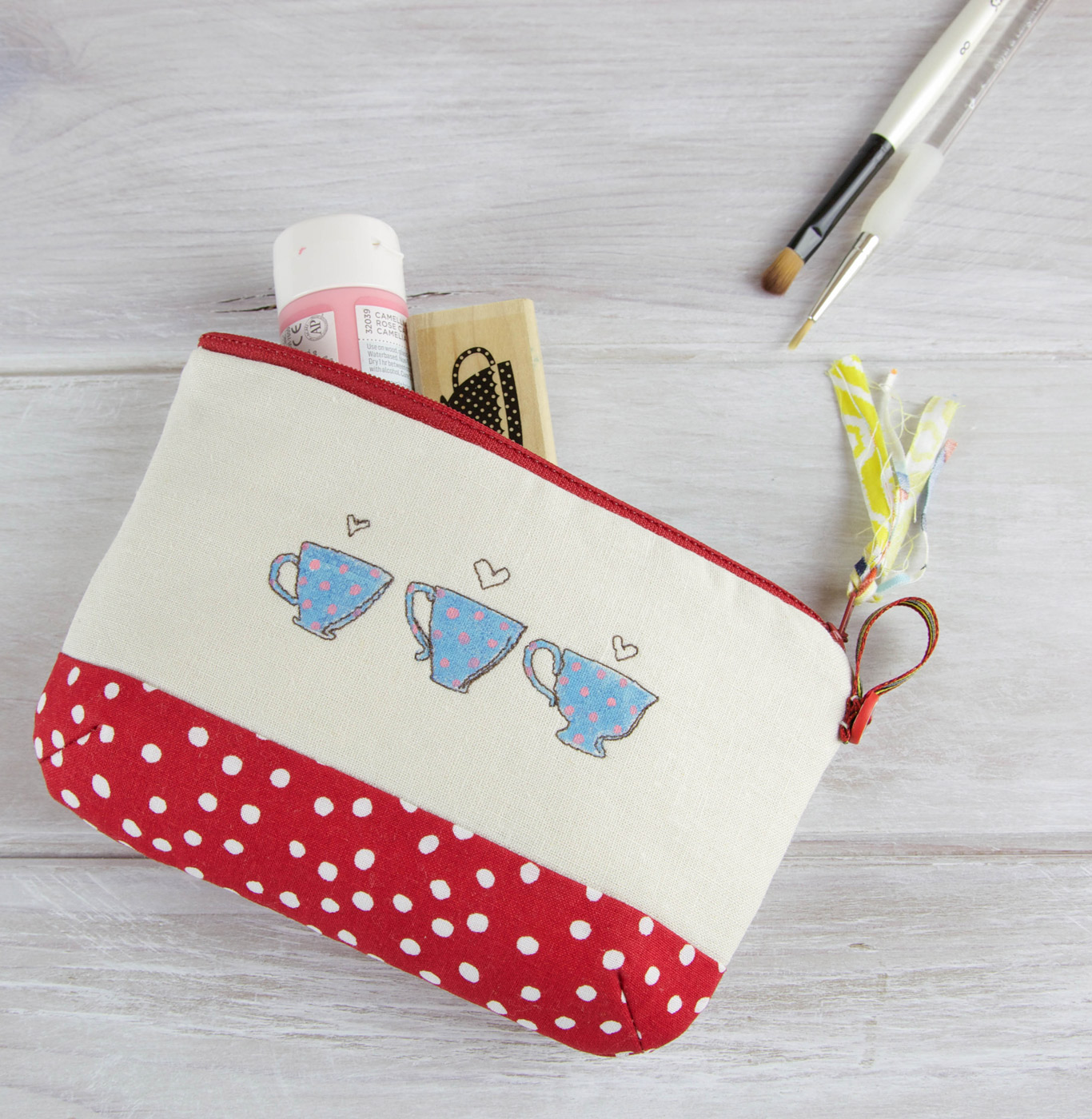 How to make a zippered Pouch. DIY Photo Tutorial.
