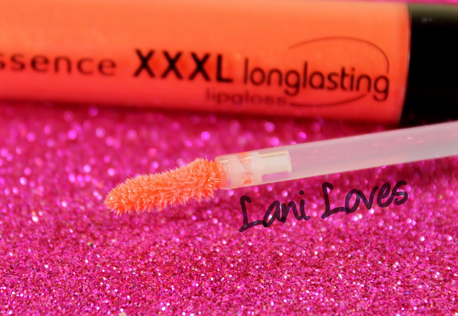 Essence XXXL Longlasting Lipgloss #02 Coral Delight Swatches & Review
