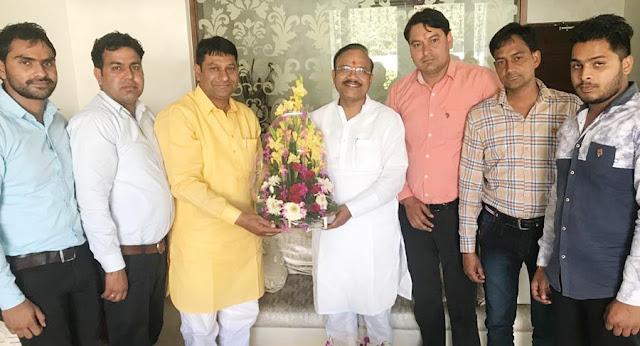 BJP leader Dr. Baldev Alawalpur congratulated Dr. Anil Jain as Rajya Sabha member