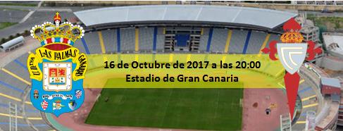 UD Las Palmas - RC Celta de Vigo 16 octubre 20:00