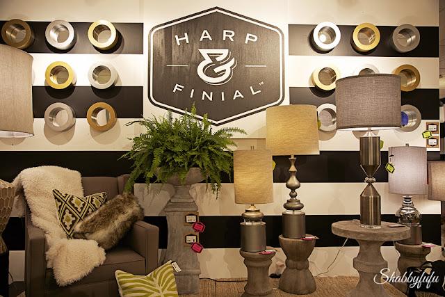 harp and finial showroom