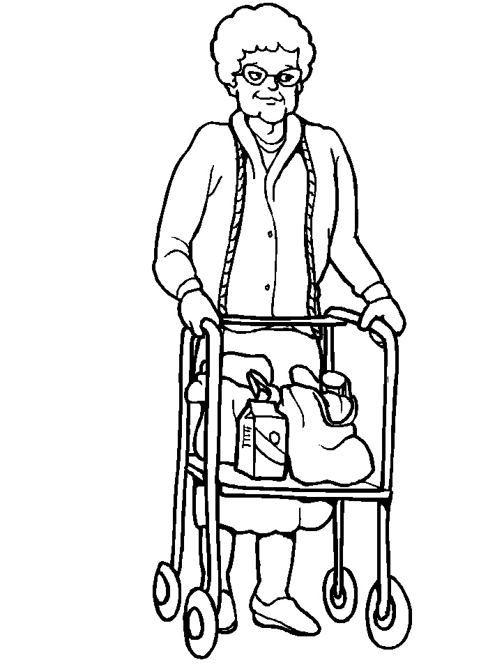 Family, People and Jobs Coloring Pages: People With