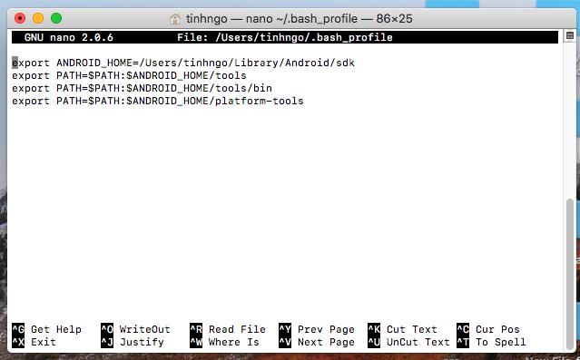 cai dat android SDK cho MAC OS
