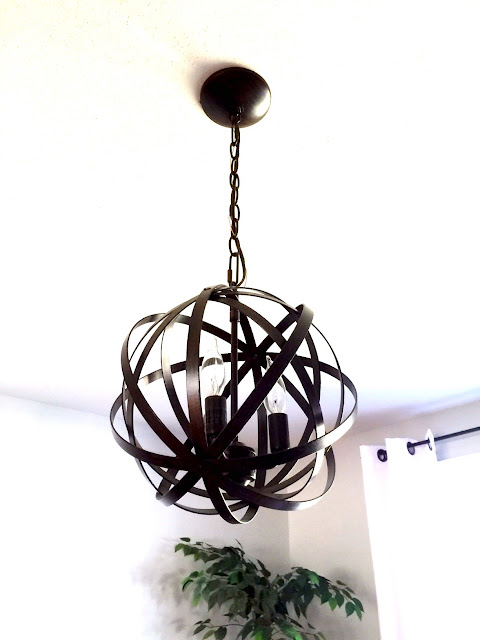 orb light, orb chandalier, orb lighting, office lighting, home office lighting