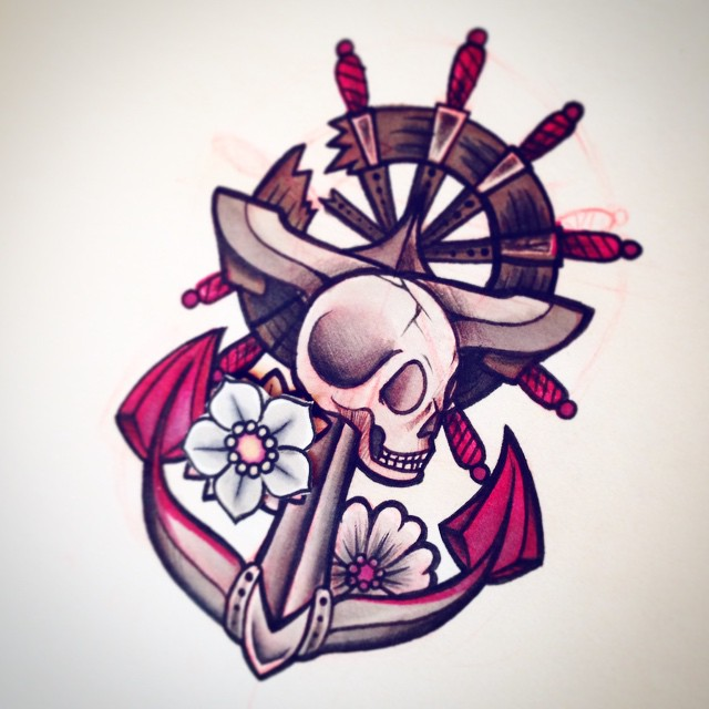 los mejores tatuajes de anclas, vemos a chica con un tatuaje precioso y delicado