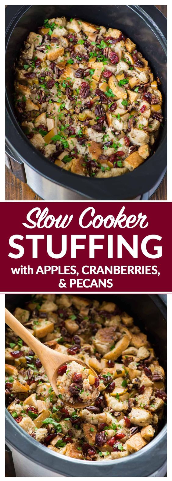 New Slow Cooker Stuffing with Apples