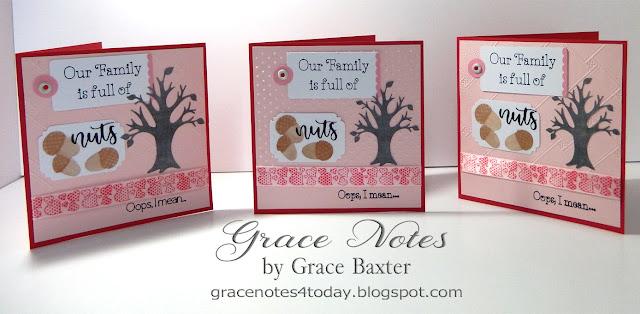 Family valentine card, designed by Grace Baxter