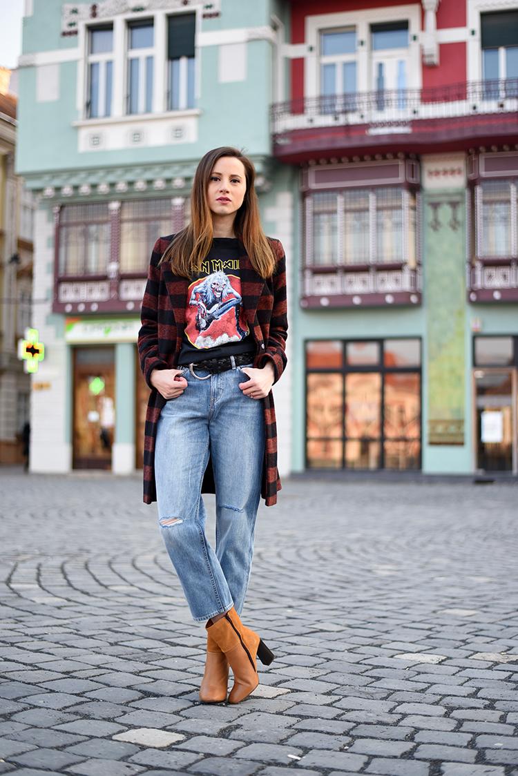Skinny Buddha Iron Maide t-shirt crop jeans