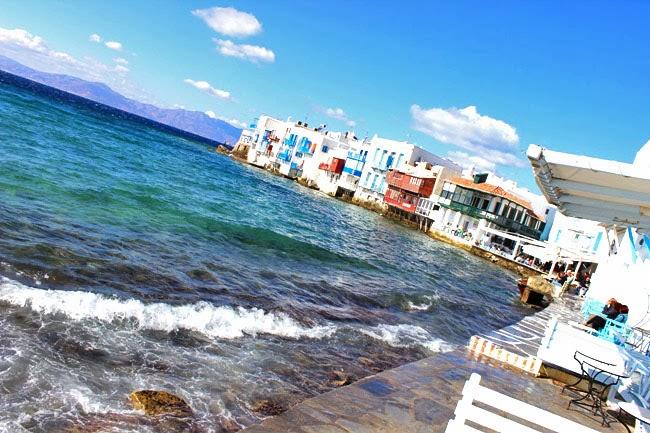 best photos of Little Venice in Mykonos