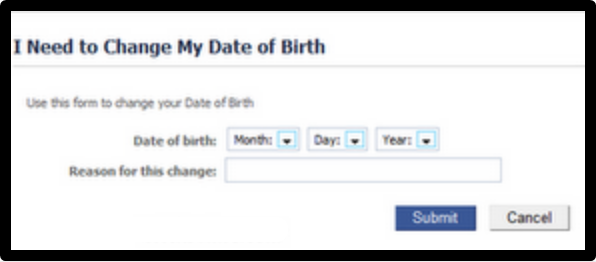 How To Change Age On Facebook
