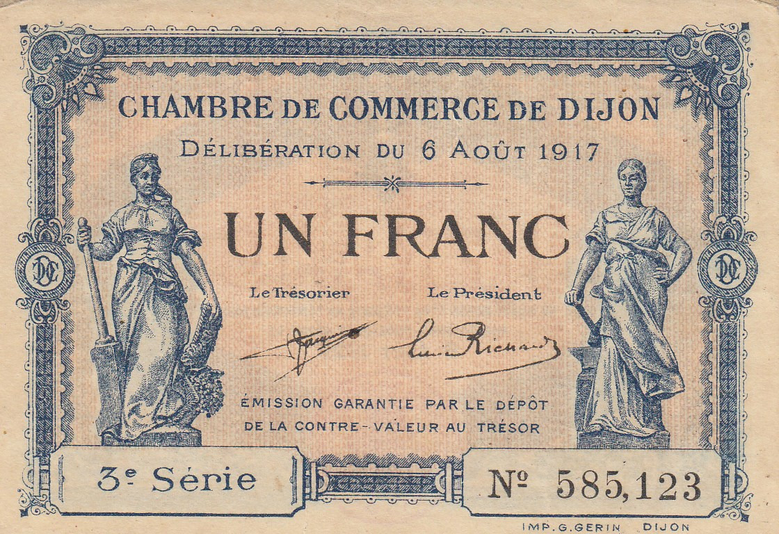 Chambre de commerce and local emergency banknotes from for Chambre de commmerce