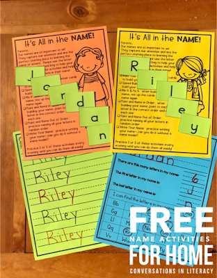 Name Activities for Kindergarten