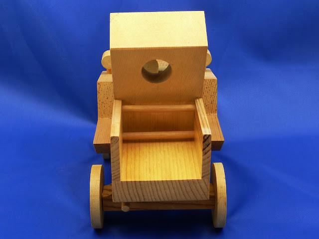 Rear - Handmade Wooden Toy Truck - Norm Marshall Model T Pickup Truck - Version 2