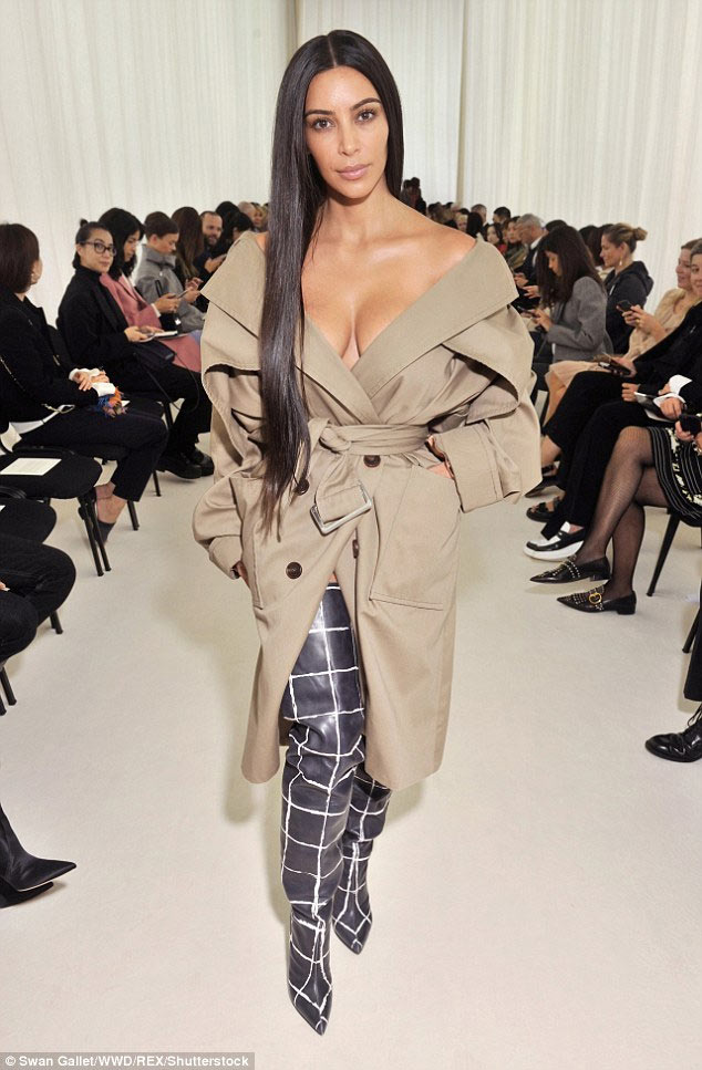Photos: Kim Kardashian steps out in racy pyjamas dress for Balenciaga